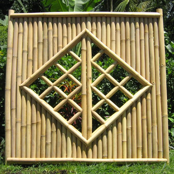 Bambuszaun Tabanan - mit Fenster - Bambuszentrum Pfalz